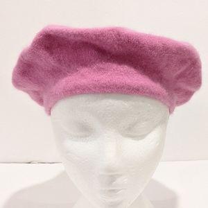 Parkhurst purple angora wool beret